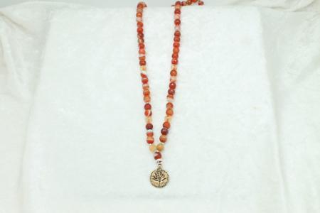 Carnelian & Citrine Necklace #8354