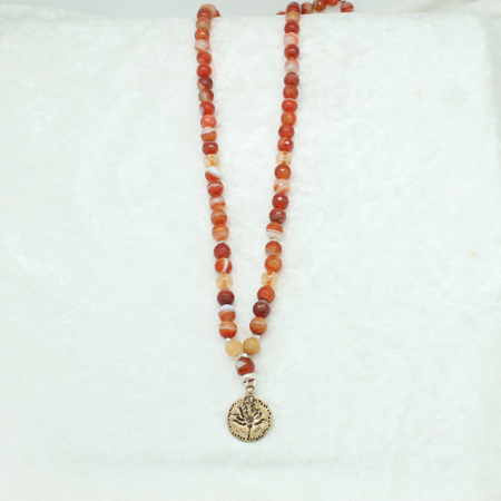 Carnelian & Citrine Necklace #8354