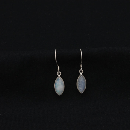 Moonstone Teardrop Sterling Silver Earrings #2752