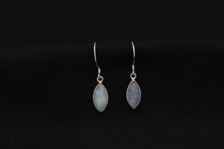 Moonstone Teardrop Sterling Silver Earrings #2752 zoom