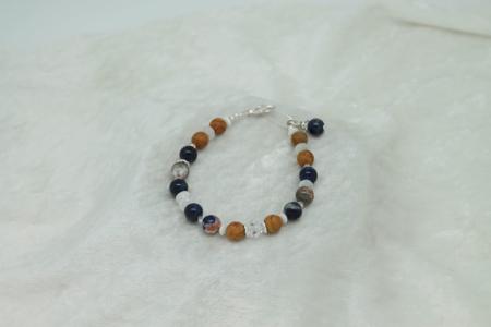 Root Jasper Moonstone Sodalite Bracelet #3143