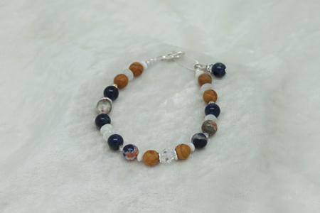 Root Jasper Moonstone Sodalite Bracelet #3143 zoom