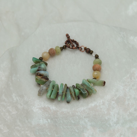 Inner Peace Chrysophase Bracelet #3148