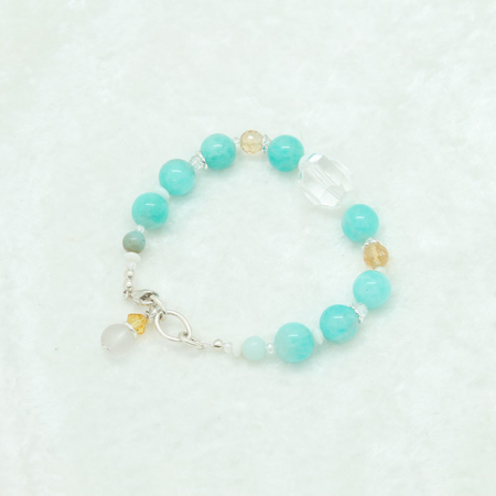 Amazonite Citrine Quartz Bracelet #3318