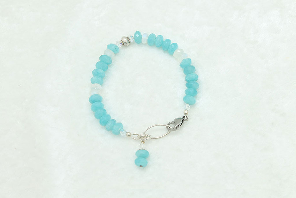 Angelite Moonstone Bracelet #3330 zoom