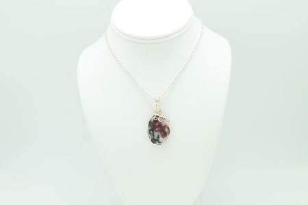 Eudialyte Pendant Plated Chain #3351