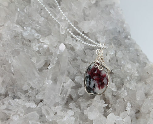 Eudialyte Pendant Plated Chain #3351 zoom 2