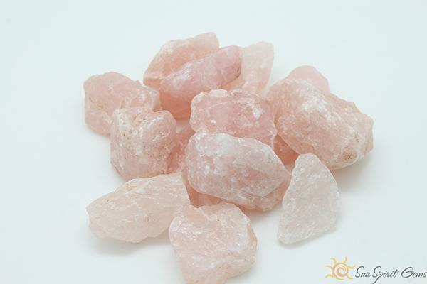 raw rose-quartz