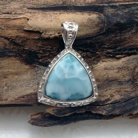 Larimar Infinite Light Triangle Pendant #4153