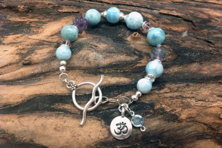 Larimar Chakra Centered Bracelet #4157