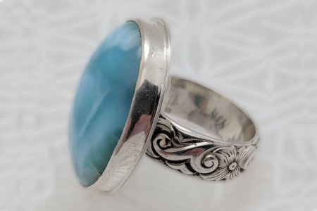 Larimar Goddess Ring #4391