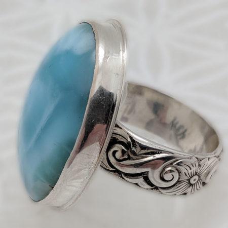 Larimar Goddess Ring #4391