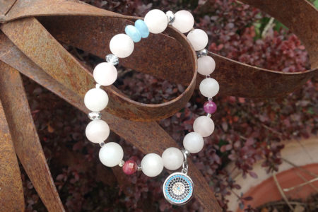 Rose Quartz & Angelite Cupid's Kiss Bracelet
