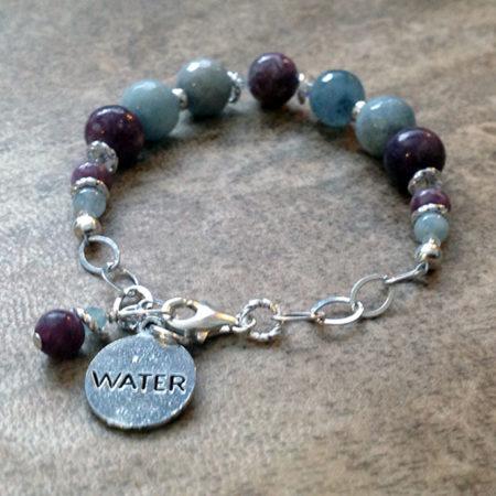 Aquamarine & Lepidolite Spirit Traveler Bracelet